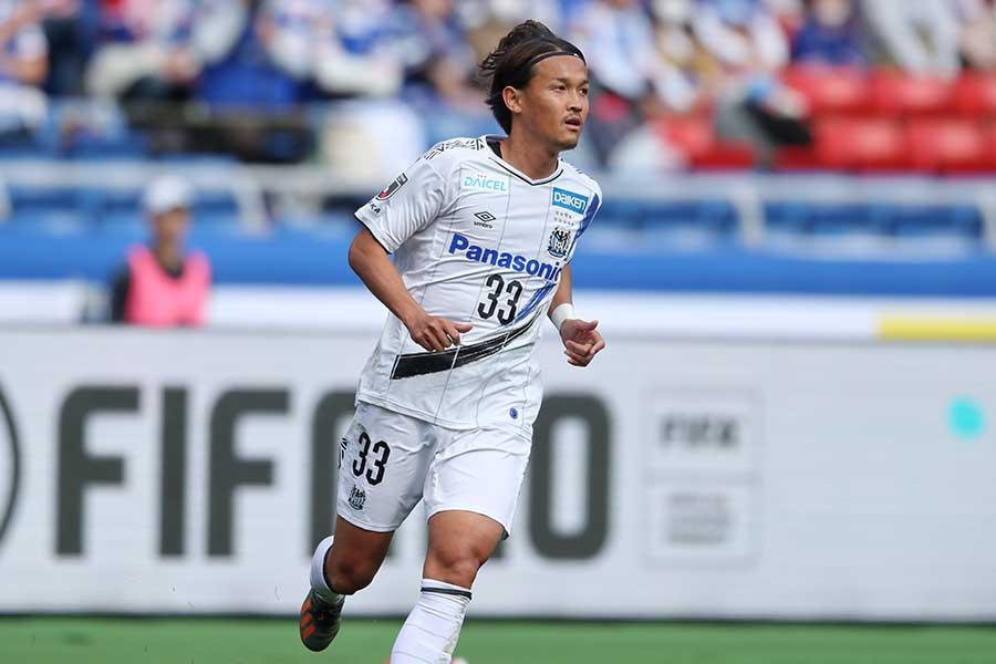 FC東京戦で得点を決めたガンバ大阪FW宇佐美貴史【写真:高橋 学】