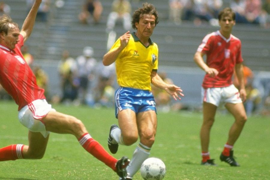 ブラジル代表としてかつて活躍したジーコ【写真:Getty Images】