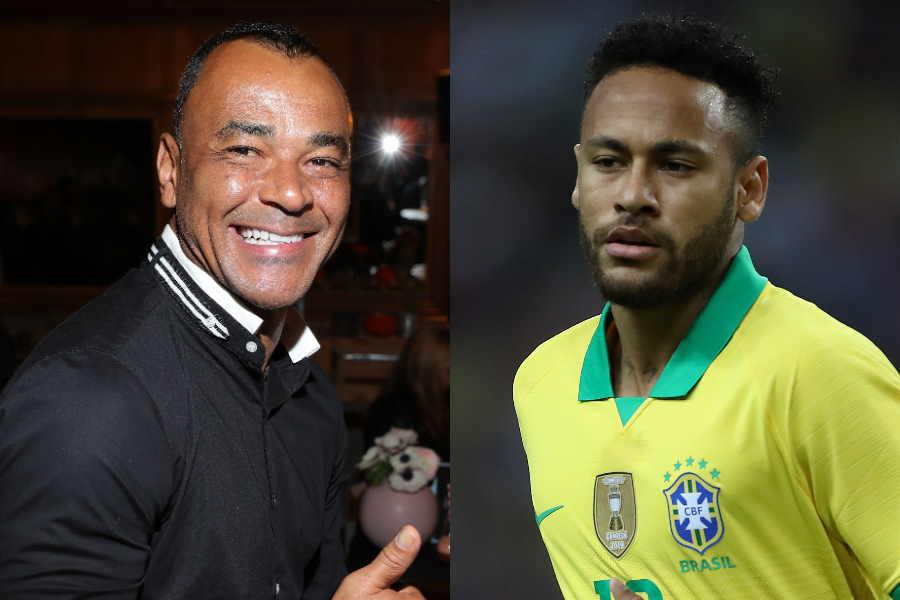 元ブラジル代表DFカフー氏(左)とFWネイマール【写真:Getty Images】