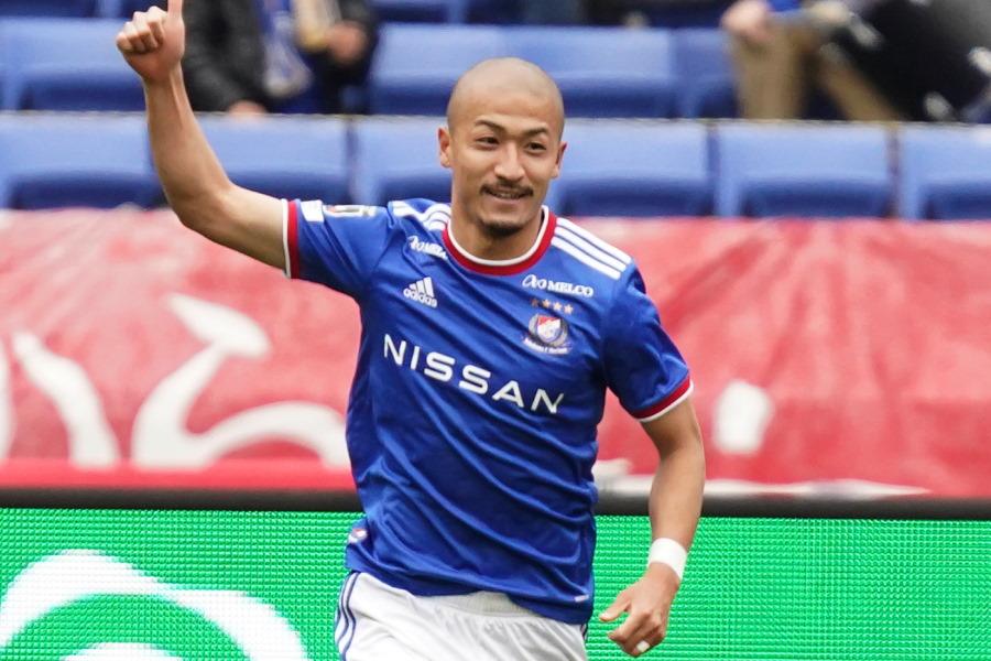 2得点でチームの勝利に貢献した横浜FM前田大然【写真:Getty Images】