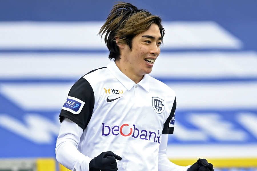 今季通算10ゴールに到達したベルギー1部ヘンクの日本代表MF伊東純也【写真:Getty Images】