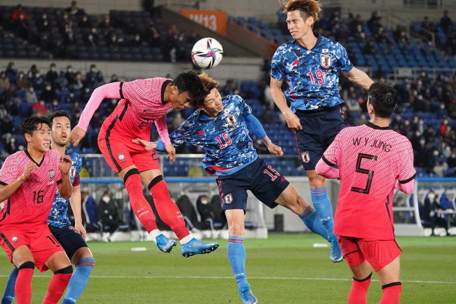 韓国相手に日本代表は前半で2-0とリード【写真:Getty Images】