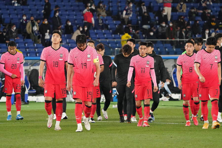 0-3と日本代表に敗れた韓国代表【写真:Getty Images】