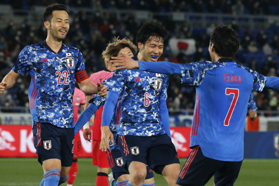 韓国代表と対戦し3-0の完勝を収めた日本代表【写真:AP】