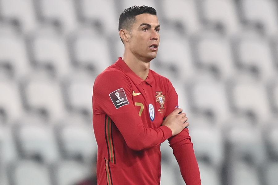 激怒してタイムアップ前にピッチを去ったポルトガル代表FWクリスティアーノ・ロナウド【写真:AP】
