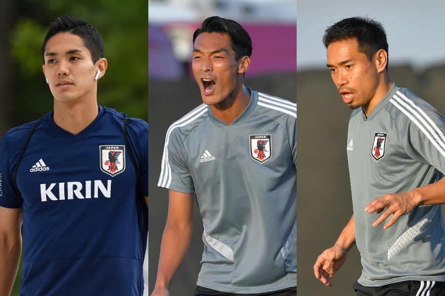 (左から)武藤、槙野、長友【写真:Getty Images】