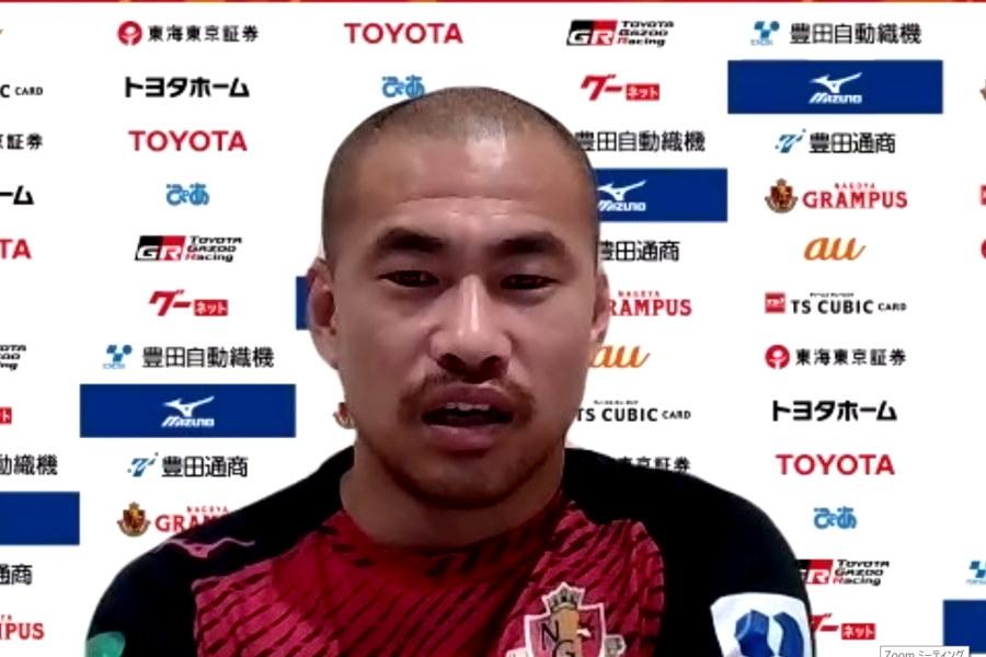 名古屋グランパスでプレーするDF吉田豊【※画像はスクリーンショットです】