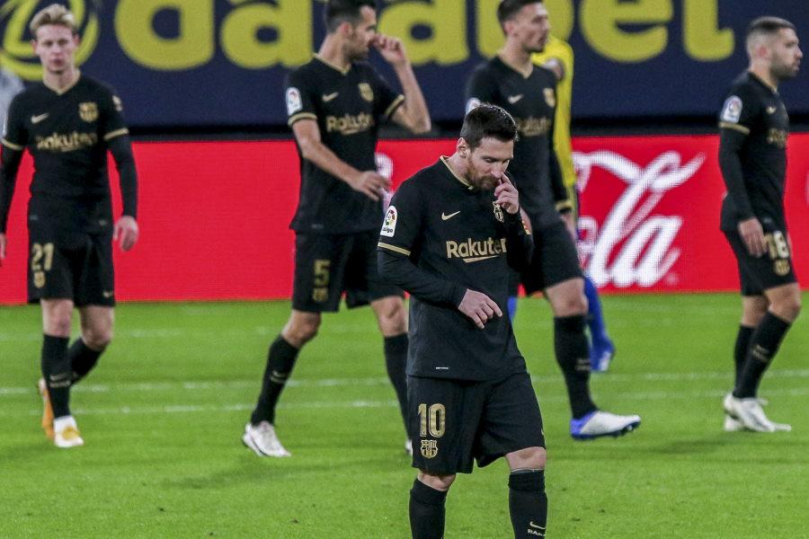 グラナダ相手に1-2で敗れたバルセロナ【写真:Getty Images】