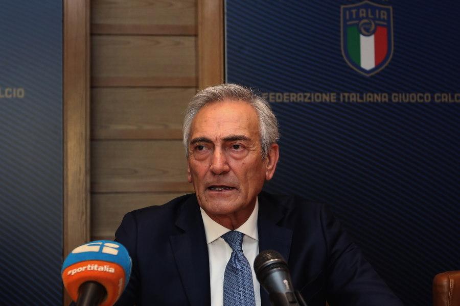 イタリア・サッカー連盟(FIGC)のガブリエレ・グラビナ会長【写真:Getty Images】