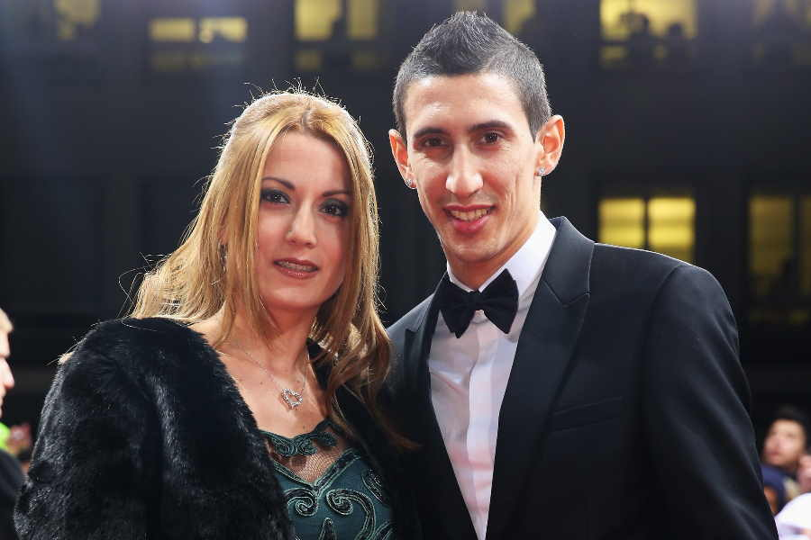 アンヘル・ディ・マリア(右)と妻のホルヘリーナ・カルドーソさん【写真:Getty Images】