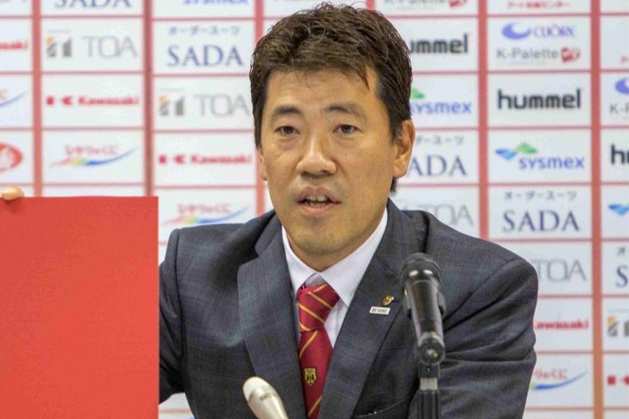 安本社長が女子サッカー界全体をリードしたいと強い思いを口にした【写真提供:INAC神戸レオネッサ】