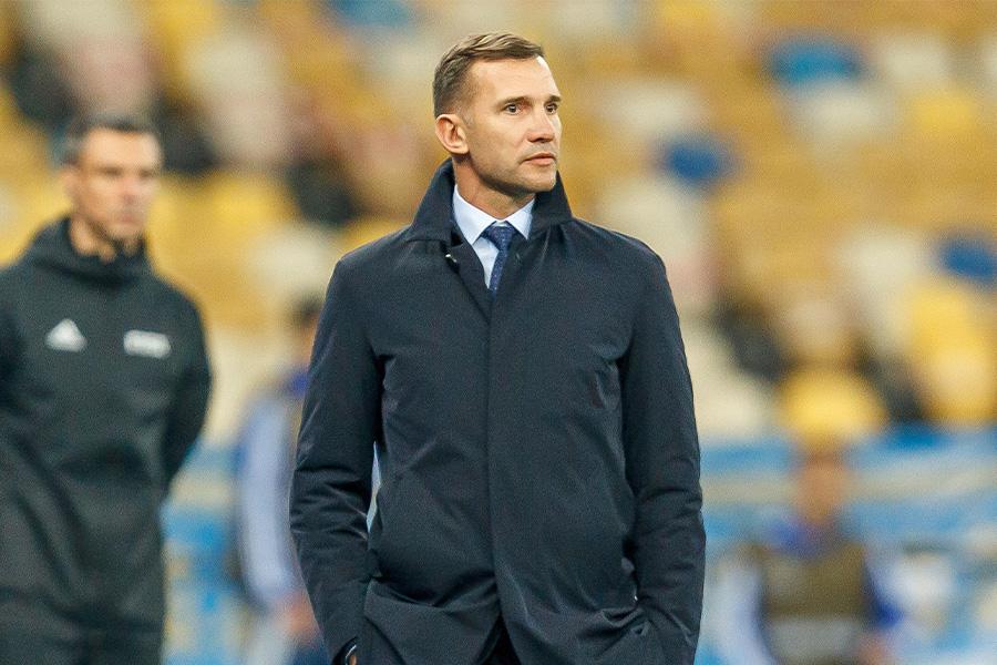 ウクライナ代表監督を務めるアンドリー・シェフチェンコ【写真:Getty Images】