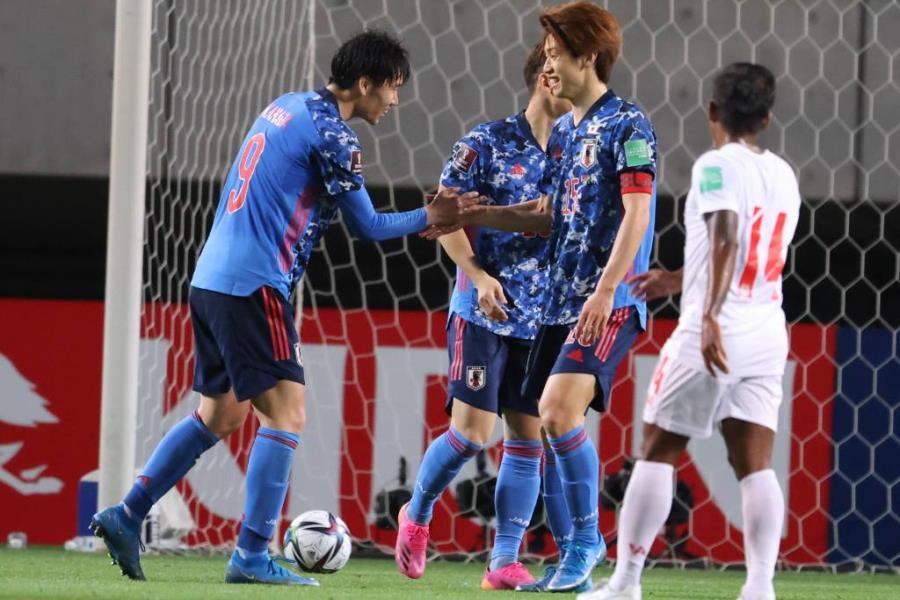 日本代表は大迫のゴールなどで10-0と大勝【写真:高橋 学】