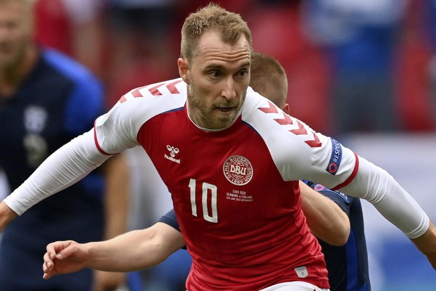 デンマーク代表MFクリスティアン・エリクセン【写真:AP】