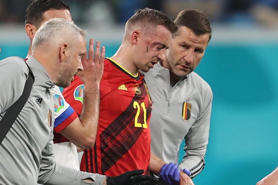 怪我で離脱してしまったベルギー代表DFティモシー・カスターニュ【写真:ロイター】