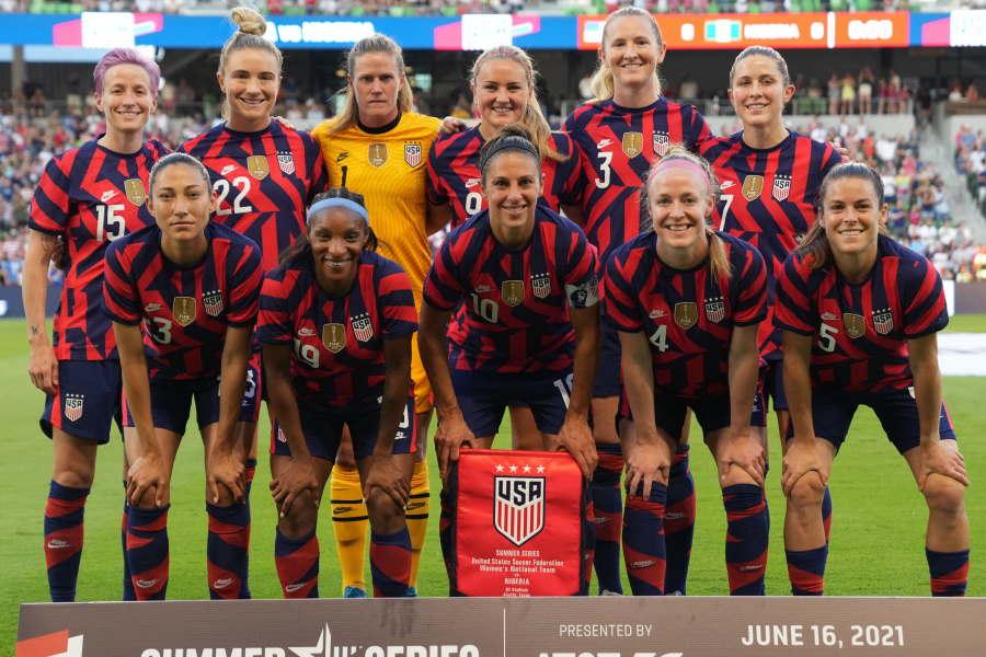 アメリカ女子代表は新ユニフォームでナイジェリアと対戦【写真:Getty Images】