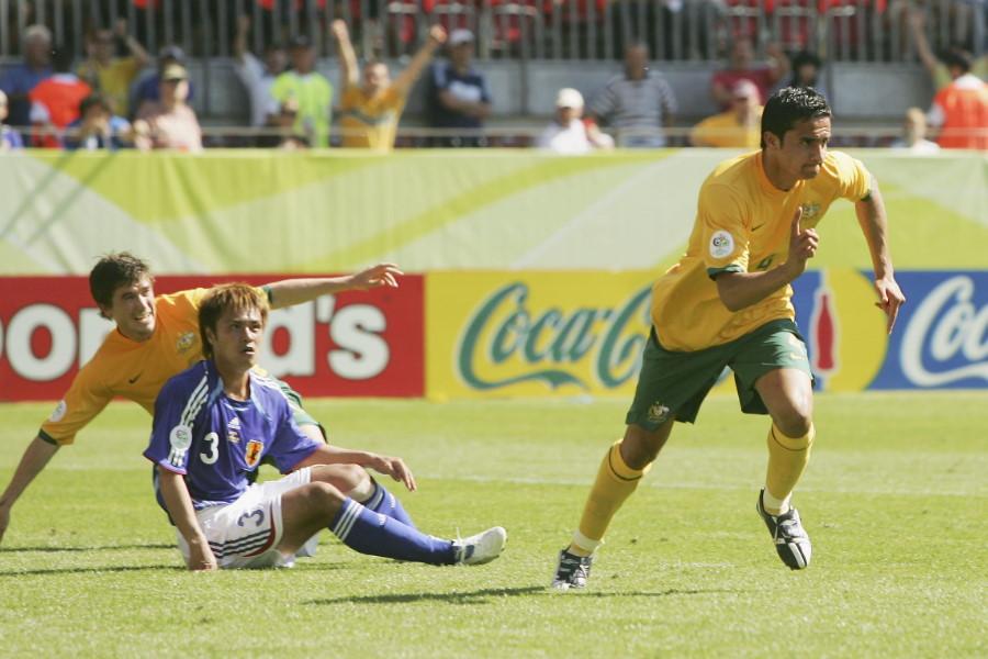 試合終盤、同点ゴールを決めたオーストラリア代表FWティム・ケーヒル【写真:Getty Images】