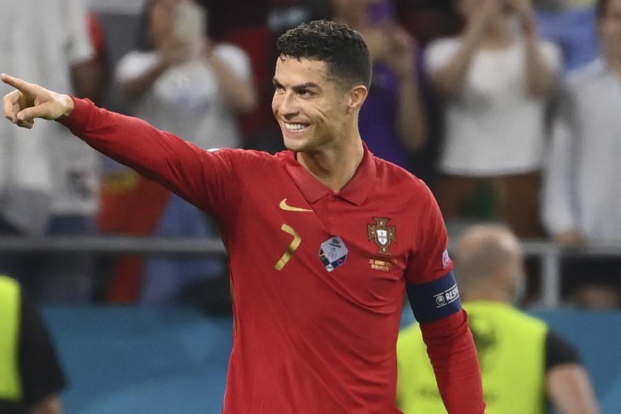 世界歴代1位の記録に並んだポルトガル代表FWクリスティアーノ・ロナウド【写真:AP】
