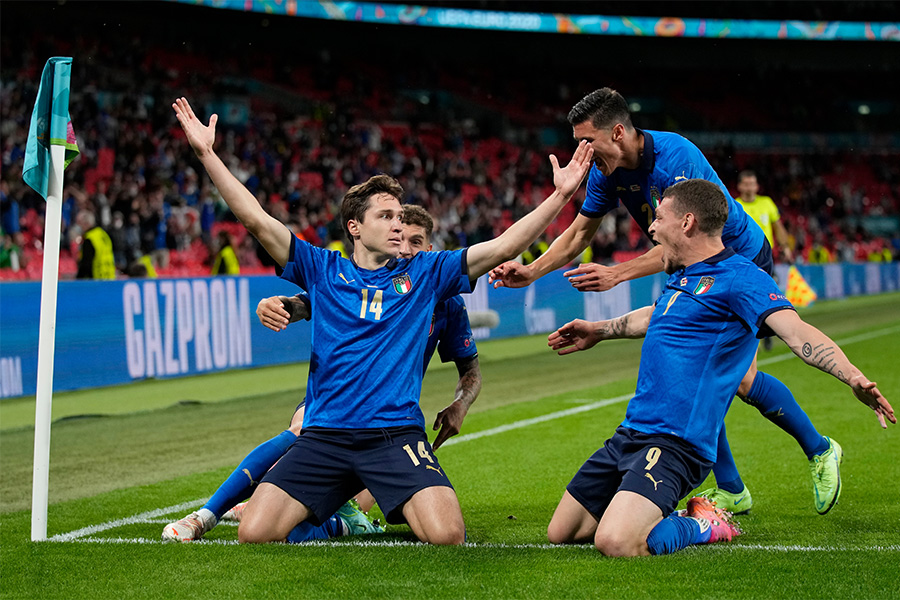 イタリア代表がオーストリア代表に勝利し準々決勝に進出【写真:AP】