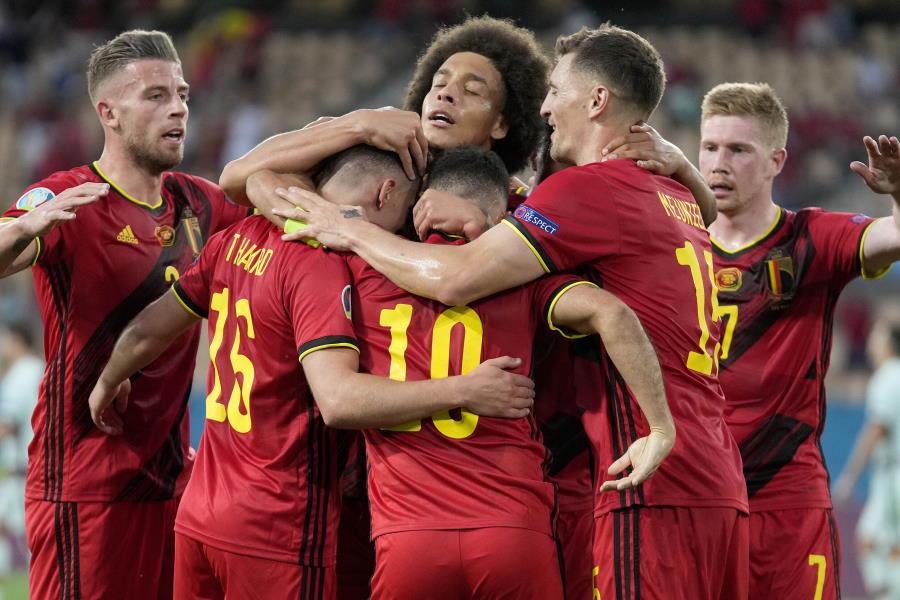前回王者ポルトガルを1−0で下したFIFAランキング1位のベルギー【写真:AP】