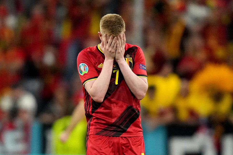 ベルギー代表はイタリア代表に敗れベスト8で敗退【写真:AP】