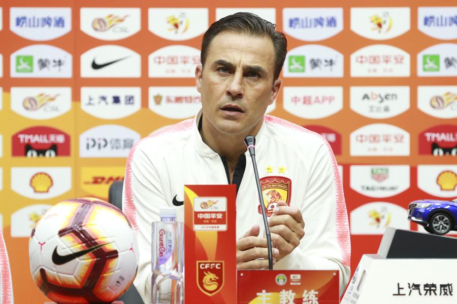 中国代表を率いた経験を持つ広州FCのカンナバーロ監督【写真:Getty Images】