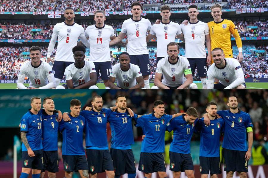 決勝で対戦するイングランド代表とイタリア代表【写真:Getty Images & AP】