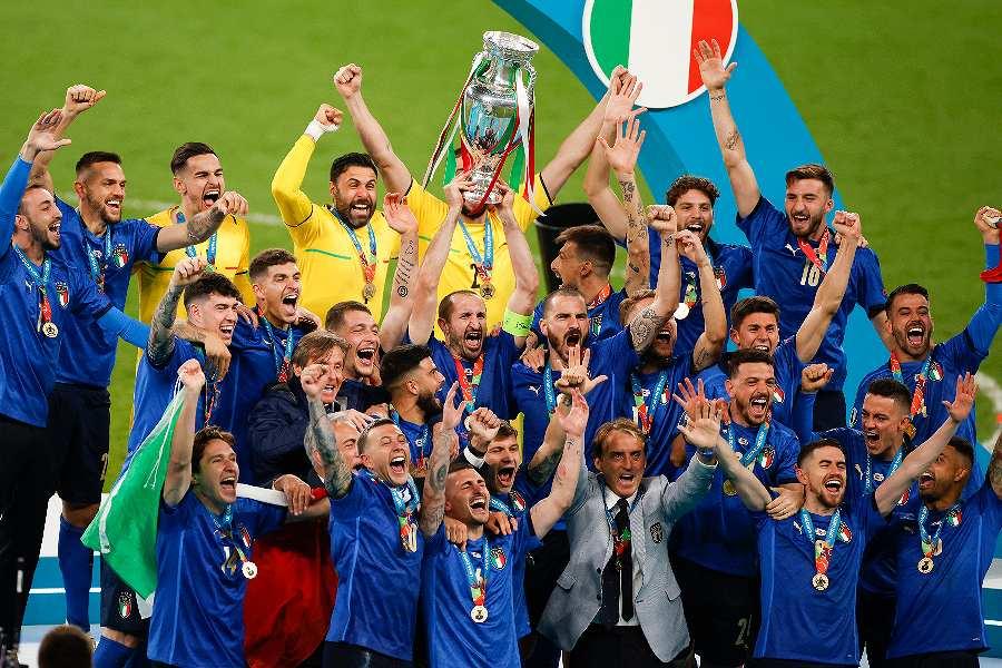 PK戦の末にイタリアが2回目のEURO優勝を果たした【写真:AP】