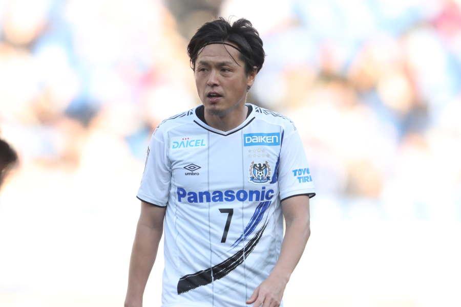 J1通算632試合出場を達成したG大阪のMF遠藤保仁【写真:高橋学】