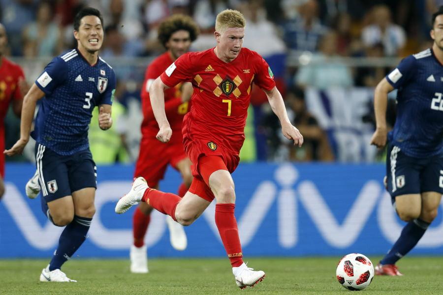ロシアW杯の日本戦でも活躍したベルギー代表MFケビン・デ・ブライネ【写真:Getty Images】