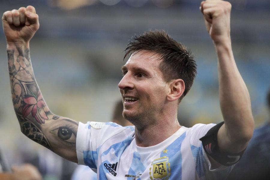 コパ・アメリカで優勝を飾ったアルゼンチン代表FWリオネル・メッシ【写真:AP】