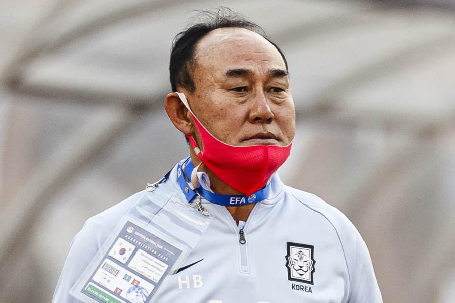 U-24韓国代表を率いるキム・ハクボム監督【写真:Getty Images】