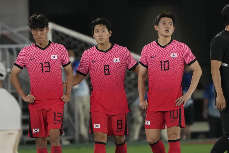 韓国は守備が崩壊してメキシコに及ばず【写真:AP】