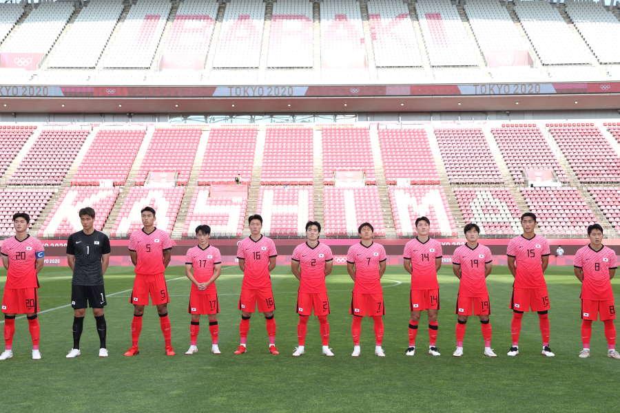 東京五輪サッカー男子の韓国代表チーム【写真:Getty Images】