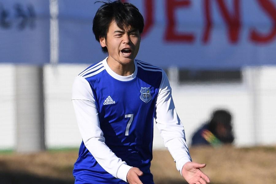Jリーグデビュー戦でゴールを決めたG大阪FW山見大登(写真は関西学院大のもの)【写真:Getty Images】