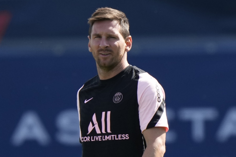 PSGに電撃加入したアルゼンチン代表FWリオネル・メッシ【写真:AP】