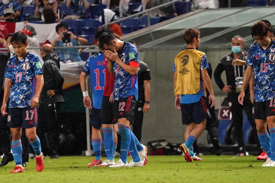 オマーンにホームで0-1と敗れた日本代表【写真:Getty Images】