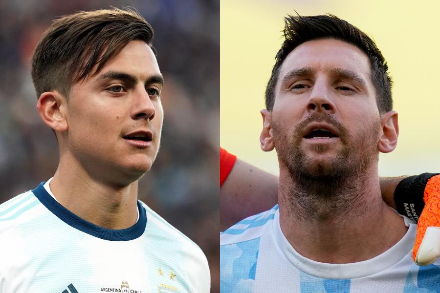 アルゼンチン代表のディバラとメッシ【写真:Getty Images & AP】