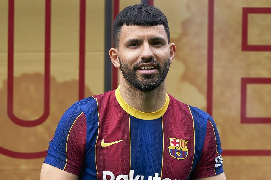 バルセロナへ移籍したアルゼンチン代表FWセルヒオ・アグエロ【写真:Getty Images】