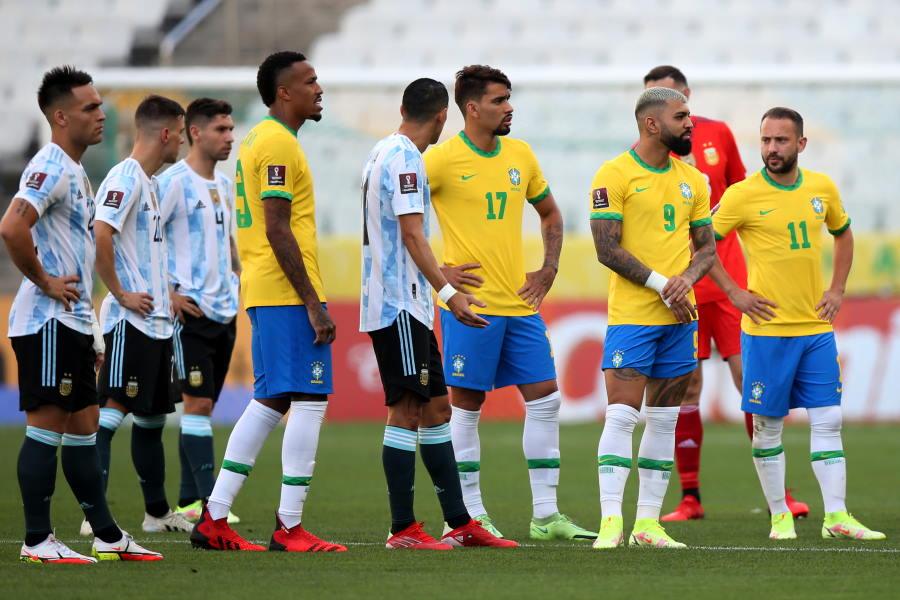 ブラジル対アルゼンチンの一戦は中止された【写真:Getty Images】