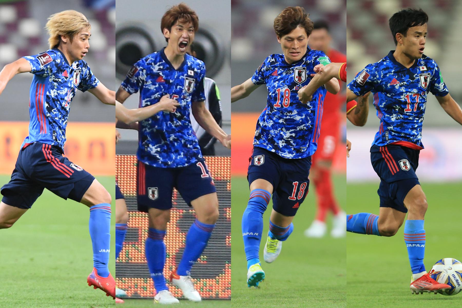 中国代表に勝利し、最終予選初勝利となった日本代表【写真:ⓒJFA & AP】