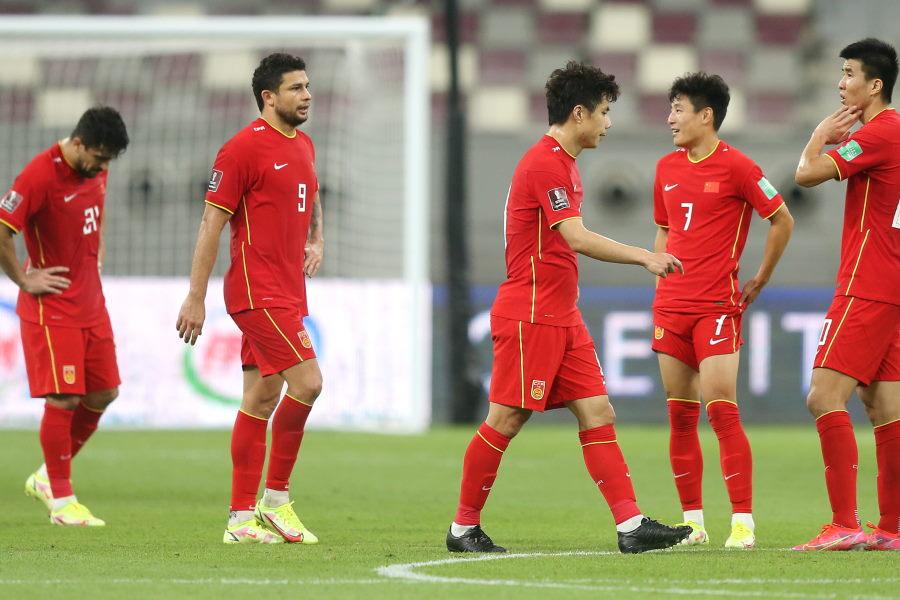 日本代表に0-1で敗れた中国代表【写真:Getty Images】