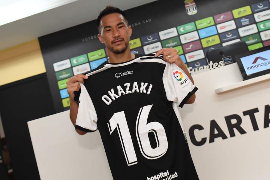 カルタヘナに今夏に加入した日本代表FW岡崎慎司【写真:FC Cartagena】