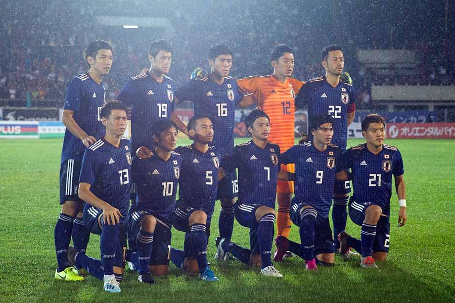 日本代表はW杯2次予選の初戦で勝利を収めた【写真:AP】