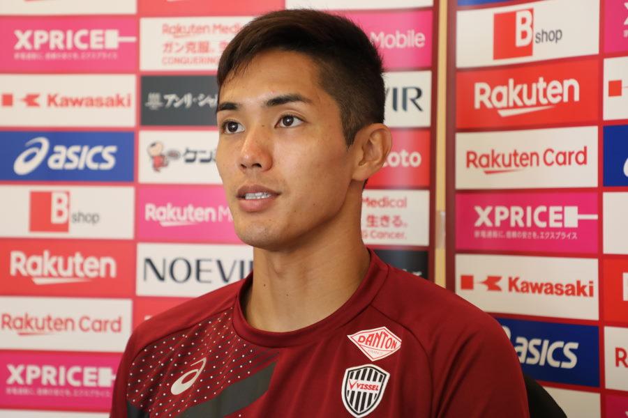 Jリーグ復帰後初ゴールを決めた神戸FW武藤嘉紀【写真:©VISSEL KOBE】