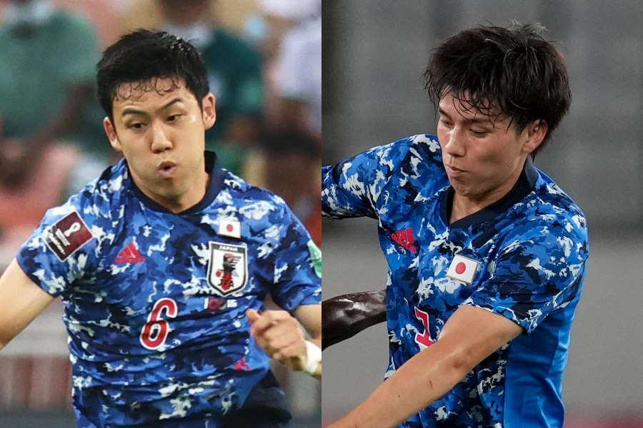 日本代表MF遠藤航と田中碧【写真:©JFA & AP】