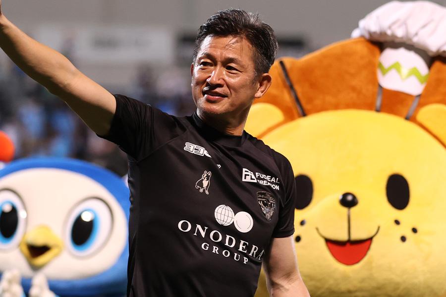 横浜FCでプレーするFW三浦知良【写真:Getty Images】