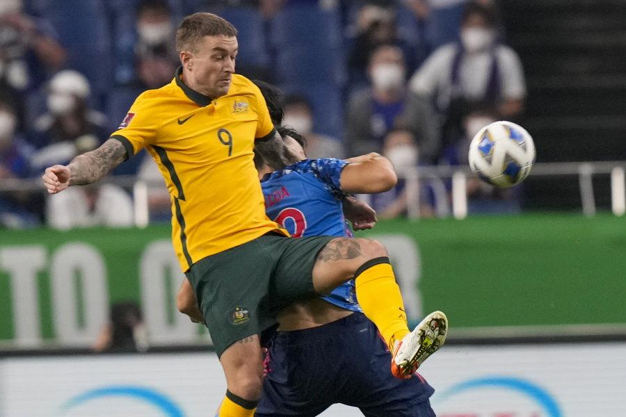 オーストラリアは前半8分に失点【写真:AP】
