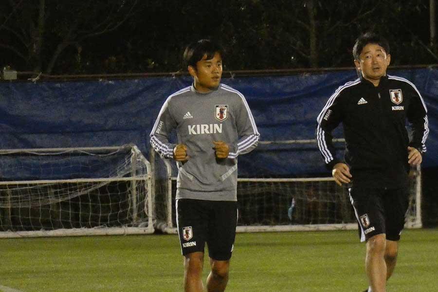 日本代表MF久保建英がチームに合流【写真:Football ZONE web】