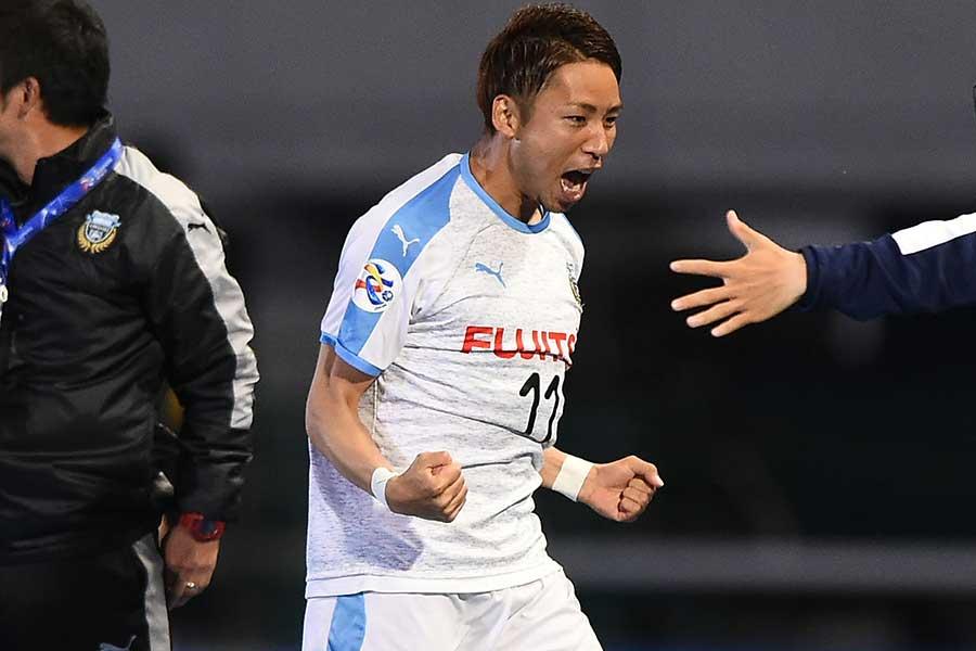 川崎FW小林悠のゴールで勝ち越すも…【写真:Getty Images】